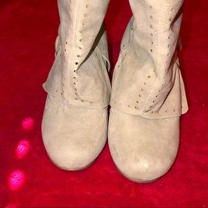 Not Rated Shoes - Cute cream colored booties, size 7.